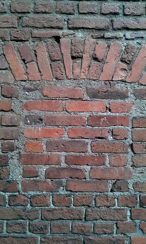 Barrio Amón: Detalle del muro perimetral del antiguo frontón Beti Jai, sitio del actual Centro Académico del TEC av.9, c.5