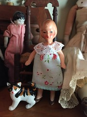 A quick dress (Foxy Belle) Tags: doll dress bisque miniature flapper bob germany handmade shabby chic ribbon sew make diy