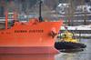 Bulk Carrier Bow (drmack2) Tags: i want just ice daiwan justice raw ship handysize bulk tugboat annacis fraserriver bc