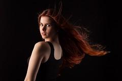 Red in the wind (dandrasphoto) Tags: andrás deák gayerhosz enikő redhead vörös hajú hair long hosszú canon eos 1d mk4 50mm f14 portrait portré creative lights girl lány nő women sexy