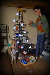 Merry Christmas (pe.kalina) Tags: merry christmas doll dollhouse diorama barbie blythe petite petshop raquelle