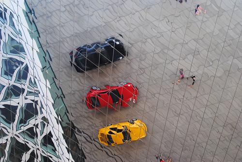 Porsche museum reflection