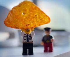 043 - I Got A Dorito (jbpro) Tags: 365 days photo challenge february doritos lego mini figs yellow orange