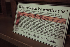 What will you be worth at 65? (mini/eng) Tags: what will you be worth 65 rbc royal bank burnaby village museum