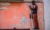2016 - Mexico - Querétaro - Up a Ladder (Ted's photos - For Me & You) Tags: 2016 cropped mexico queretaro santiagodequeretaro tedmcgrath tedsphotos tedsphotosmexico vignetting nikon nikonfx nikond750 ladder wall male man ballcap