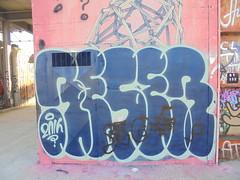 111 (en-ri) Tags: reser 2016 azzurro blu parco dora torino wall muro graffiti writing