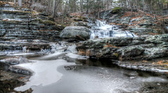 Child's Falls in winter (aldadelorenzo2011) Tags: water waterfalls childs park digman ferry ice cold