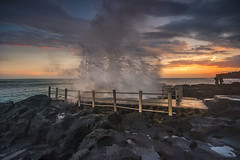 Waves Seseh (Farizun Amrod Saad) Tags: sunset bali beach rock indonesia landscape evening waves stones splash sesehbeach
