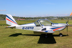 G-CGTD (GH@BHD) Tags: eurostar aircraft aviation microlight ev97 ulsterflyingclub newtownardsairfield evektor teameurostar gcgtd