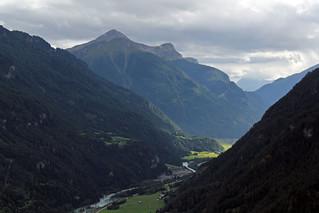 Oberinntal seen from Serfaus. Tirol. Austria.