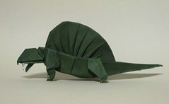 Dimetrodon Fest - Kawahata (mr.origami) Tags: brown dan model origami dinosaur mr daniel dimetrodon kareshi kawahata fumiaki mrorigami