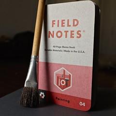Paint Brush (The Marmot) Tags: art notebook design flickr tool ordinary fieldnotes photo365 fieldnotesbrand memobooks x100s