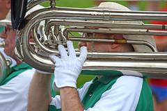 White Glove Band (MTSOfan) Tags: community band parade fourthofjuly brass 2015 strawhats rockledge
