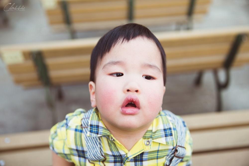 清新自然日系風格寶寶週歲全家福親子攝影師