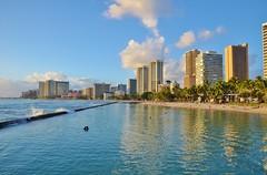 Waikiki Skyline (mmdurango) Tags: waikiki sunsets honolulu waikikisunset