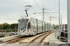 BVB Be 6/8 5001 in Weil am Rhein, Trambrcke DFC_3207 (foto_DM) Tags: am tram erffnung basel rhein strassenbahn weil bombardier zoll grenze kleinhningen motorwagen flexity grenzberganng hiltalingerbrcke weilfreidlingen