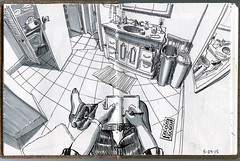old bathroom from the edge of the tub (paul heaston) Tags: art notebook artwork drawing journal sketchbook location urbansketching urbansketchers stillmanandbirn