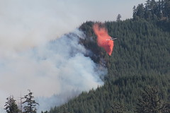 Air attack on southern Oregon wildfire -- 2015 (BLMOregon) Tags: wildfire wildifres retardant aircraft fire firefighting firefighters wildlandfire wildland forest forestry forestmanagement blm oregon doi interiorpacificnorthwest firefighter