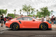 911 GT3RS in Lava Orange (NiePhotography) Tags: arizona orange cars coffee car race lava wheels 911 august super exotic porsche headlight scottsdale rs supercar taillight spoiler 991 gt3 2015 gt3rs