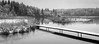 Winter atmosphere (hjuengst) Tags: hackensee lake winter blackandwhite atmosphere jetty hut forest bavaria holzkirchen
