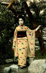 Geisha Girl (~ Lone Wadi ~) Tags: japan japanese asia asian postcard souvenir geishagirl fareast beauty