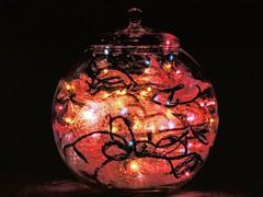 Jar Full of Sparkle (clarkcg photography) Tags: jar glass lights twinkle flickeringlights christmaslights starburst sparkles sparkle sparkling flickrfriday