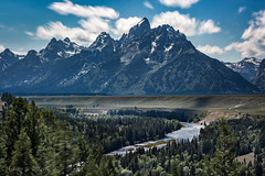 Stood tall like a king of all mountains (ScorpioOnSUP) Tags: buckmountain canon grandtetonnationalpark middleteton mtowen nezperce snakeriver teewinotmountain wyoming adventure clouds landscape landscapephotography longexposure mountainrange mountains nature outdoors peaks river sky trees