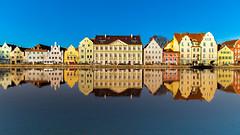 Reflecting Landshut. (joseph_donnelly) Tags: landshut bayern bavaria isar reflection reflecting spiegel mirror colours farben germany houses