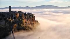 The sunrise in Civita di Bagnoregio (Luc1659) Tags: landscape paesaggio italy fog atmosphere civitadibagnoregio nebbia nubi