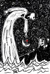 The ocean king di #JS2016 (©Stefano Wolf) Tags: moon moonart balloonart balloon redballoon drawingart drawing drawingartist art artist arte artista artwork jacobsibbern redmoon luna lunarossa disegno rosso red