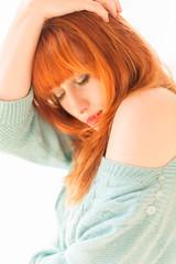 Sinopa Rin (dannymol) Tags: sinoparin jumper redhead model highkey beauty photoshoot wideopen shoulder bareshoulder