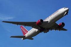 Omni Air Boeing 777-222/ER N918AX (Mark Harris photography) Tags: spotting anc anchorage plane alaska aircraft