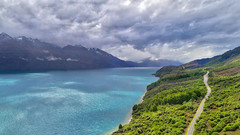 Flying Over Lake Wakatipu (Stuck in Customs) Tags: newzealand queenstown mountcreighton otago nz glenorchy southisland islands road horizontal colour color hdr hdrtutorial hdrphotography hdrphoto outdoor outdoors outside rr dailyphoto day daytime reflections mirror lake water mountain travel snow sharp crisp blue white purple brown green yellow black sun clouds lakewakatipu october 2016 p2016 landscape cloud