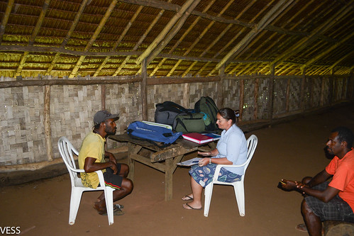 interview in community hall on Vanua lava