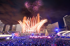 Fireworks at City Hall (vince.ng86) Tags: firework fireworks newyear 2017 newyears celebration celebrations lights cityhall torontocityhall toronto tdot thesix