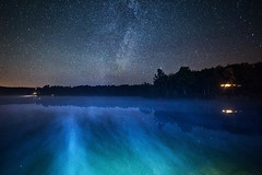 Milky Bay (Matt Molloy) Tags: mattmolloy photography night sky stars milkyway galaxy water lake blue steam trees cottage lightpainting littlecranberrylake haskinspoint seeleysbay ontario canada landscape lovelife