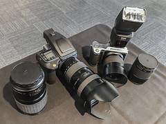 The new Medium Format Hasselblad cameras on show - Parkes - ACT - Australia - 20161206 @ 13:52 (MomentsForZen) Tags: hcmacro120mm hcd35to90mm xcd90mm xcd45mm lenses h6d50c h6d x1d50c x1d hasselblad cameras lightroom xnviewmp iexplorer iphone iphone7plus mfz momentsforzen parkes australiancapitalterritory australia au