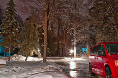 Ice Storm 2 (CdnAvSpotter) Tags: navan ice storm 2017 ottawa snow winter night shot long exposure tripod luminar macphun canoneos1dxmarkii canonpro canon 1dxii 1dxmarkii outdoor scenery winterwonderland icy slippery