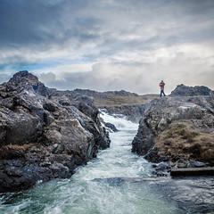 Waterfall, Iceland (cpphotofinish) Tags: weather eos5dmk3 canon cpphotofinish carstenpedersen canondslr carst1 canon5dmk3 canonredlable ef1740mmf4lusm snæfellsnesvegur vesturland iceland snæfellsnes roadtrip fog rain autumn reykjavik waterfall water