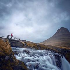 Kirkjufellsfoss (cpphotofinish) Tags: weather eos5dmk3 canon cpphotofinish carstenpedersen canondslr carst1 canon5dmk3 canonredlable ef1740mmf4lusm snæfellsnesvegur vesturland iceland snæfellsnes roadtrip fog rain autumn reykjavik waterfall water