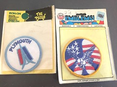 70s era emblem patches (TDKer) Tags: plymouth eagle peace emblem embroidered patch ironon