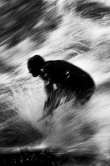 . (www.piotrowskipawel.pl) Tags: sport journalism photojournalism reportage documentary documentaryphotography bw blackwhite blackandwhite monochrome surfer surfing riversurfing eisbachriver eisbach wave waves movement dynamic action expressive
