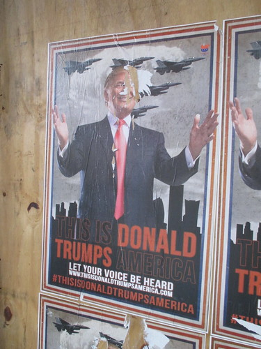 This is Donald Trumps America - sidewalk poster 0960