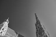 The Kingdom Above (Panda.*) Tags: church black white bw blackandwhite skye kingdom heavens perspective architecture history art sightseeing monuments wien vienne vienna austria europe sony slta99 slt minolta amount ff fullframe dslt a99 alpha maxxum dynax