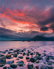 Elgol Beach - Isle of Skye - Scotland (~ Floydian ~ ) Tags: henkmeijer photography floydian greatbritain unitedkingdom scotland scottish highlands isleofskye elgolbeach elgol beach skyonfire sun sunset evening dusk sea ocean rocks stones landscape nature canon canoneos1dsmarkiii leefilters