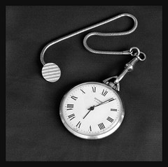 Back in the USSR (Gillian Everett) Tags: clocks watch sekonda clock timekeeping history ussr gold 23 jewels odc 365d midnightblue unmellowyellow mechanical fob pocket 2014 7daysofshooting week31 time blackandwhitewednesday