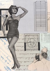 in search of an audience (kurberry) Tags: collage cutandpaste analoguecollage vintageephemera tracingpaper