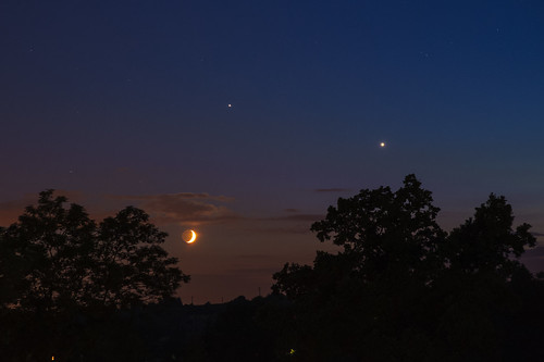 Venus, Jupiter and Moon on 20th June 2015