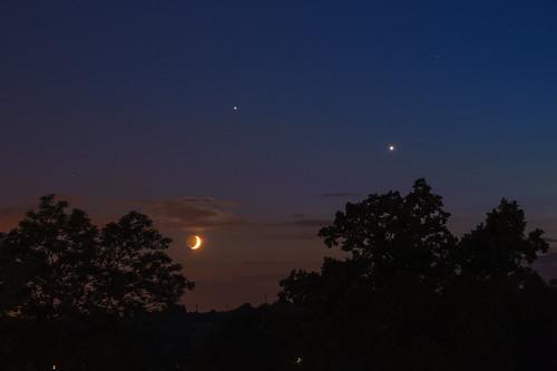 Venus, Jupiter and Moon on 20th June 2015