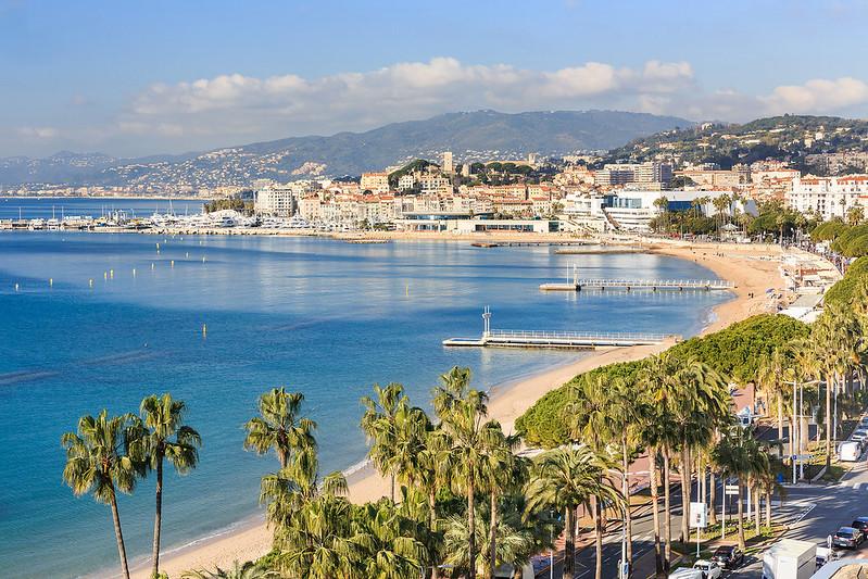 Croisette, Baie de Cannes, Plages}